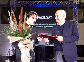 We welcomed Fazıl Say on Campus