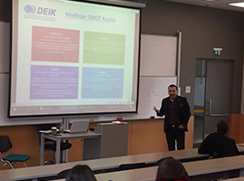 Guest Speaker in course IBUS 202 Country Analysis: DEIK Turkey-India Business Council Chairman Tevfik Dönmez