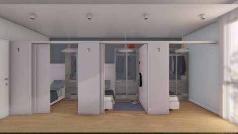 Yurt 2 D Tipi 3 Kişilik Banyolu Bölmeli Oda