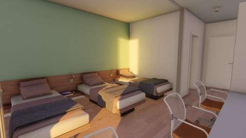 Yurt 2 C Tipi 3 Kişilik Banyolu Standart Oda