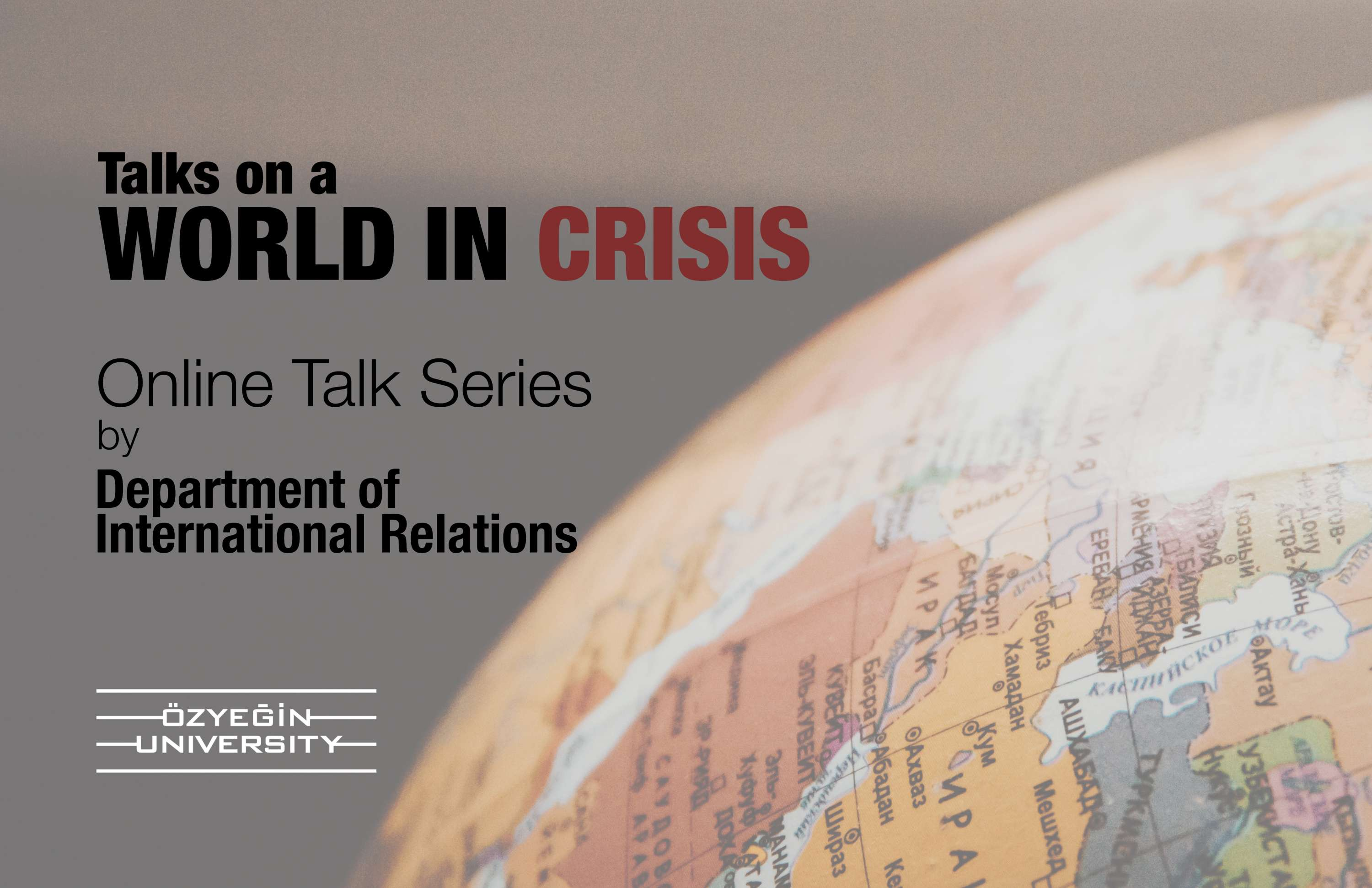 Talks on a World in Crisis Flyer