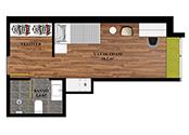DORM 6 - TYPE A ROOM  (SINGLE ROOM WITH EN-SUITE BATH)